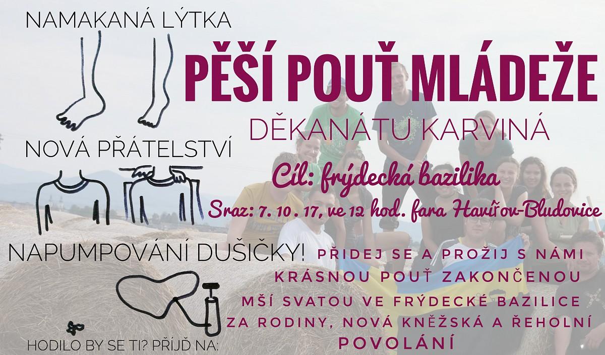 Plakát pouť mládeže děkanátu Karviná 2017