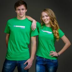 dámské a pánské zelené triko A co je nového u Tebe?, dostupné i v modré barvě
