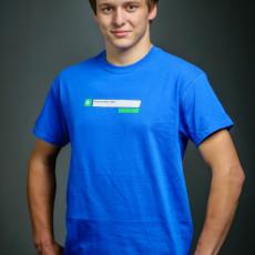 pánské modré triko A co je nového u Tebe?, dostupné i v zelené barvě