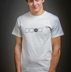pánské bílé triko Čtverce