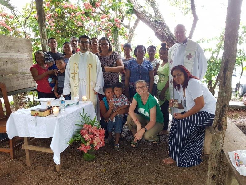 Návštěva panamské farnosti