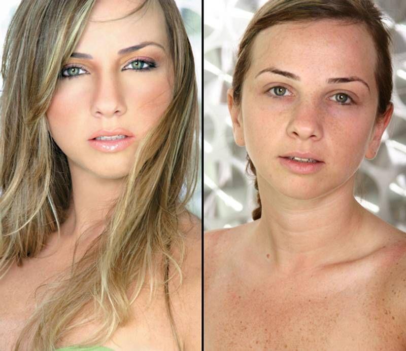Смотреть девушек без макияжа фото