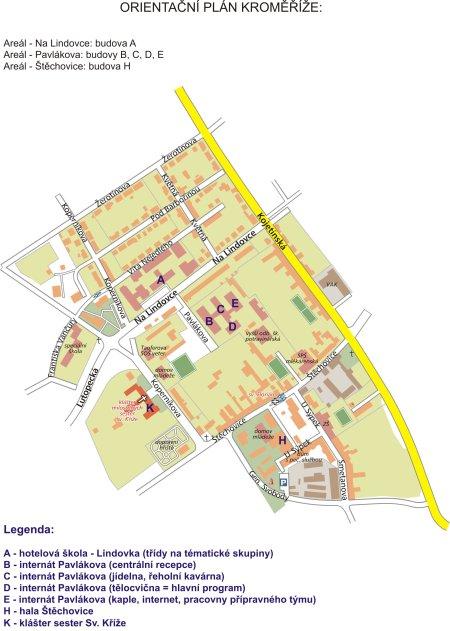 Orientační plán Kroměříže